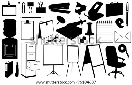 office supplies set - stock vector