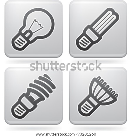 Office Supply Icons Set - stock vector