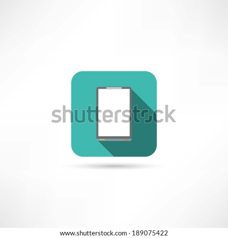 office tablet icon - stock vector