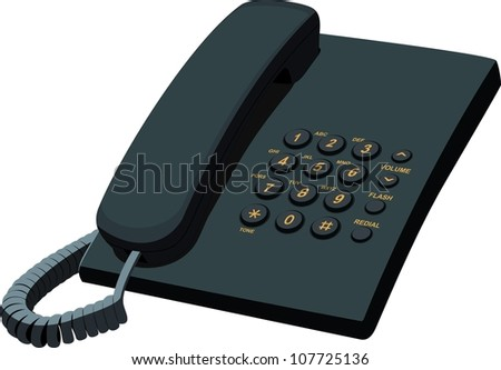 Office telephone - stock vector