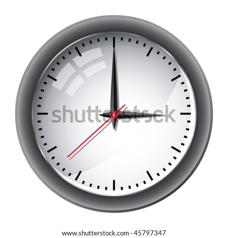 Office wall clock illustration