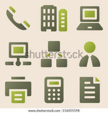 Office web icons vintage color series