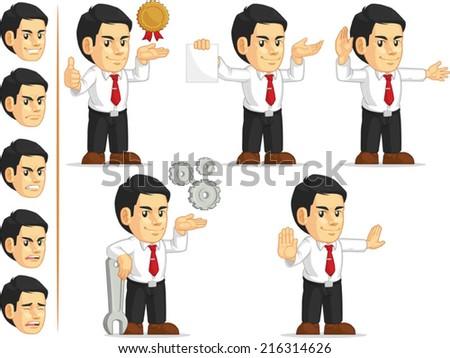 Office Worker Customizable Mascot 12 - stock vector
