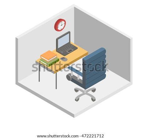 Office workplace. Computer desk