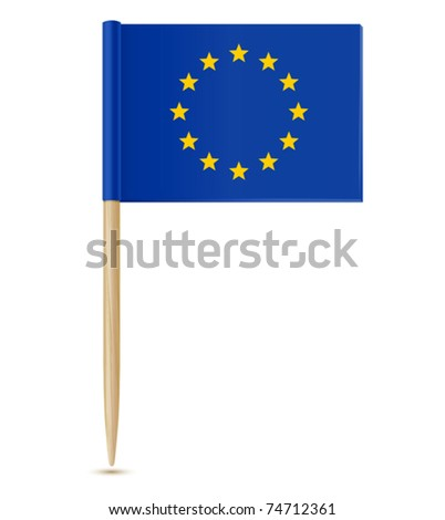 Official flag of european union toothpick - stock vector