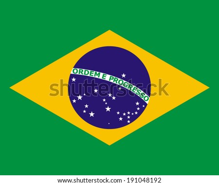 official national flag of Brazil - stock vector
