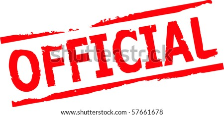 official rubber stamp vector illustration - stock vector
