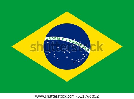 Official vector flag of Brazil .  Federative Republic of Brazil .