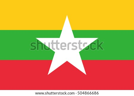Official vector flag of Republic of the Union of Myanmar .