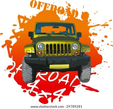 Offroad car - stock vector