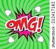 Oh My Good! wording comic speech bubble in pop art style on burst background - stock vector