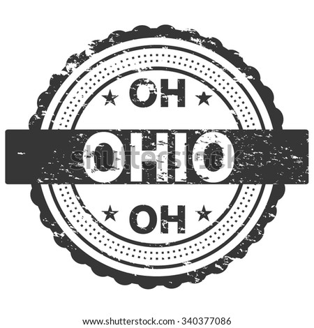 Ohio Grunge Stamp / Badge - stock vector