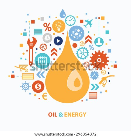 Oil and energy concept design on white background,clean vector - stock vector