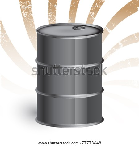 oil barrel against grunge background - eps 10 - stock vector