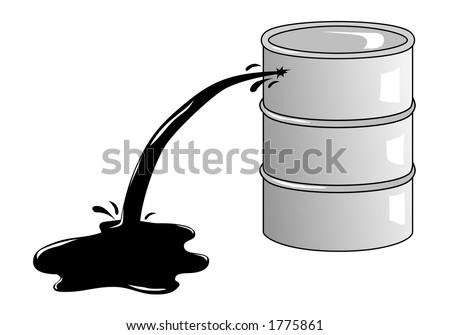 Oil barrel illustration.