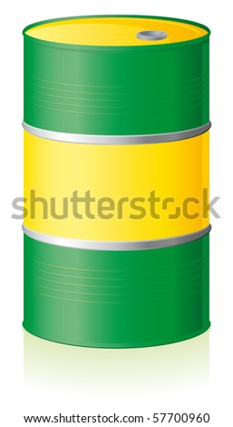 Oil barrel isolated on white background - stock vector
