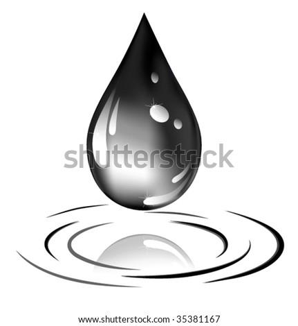 Oil drop - stock vector