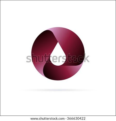 Oil drop logo  template. Abstract Symbol design - stock vector