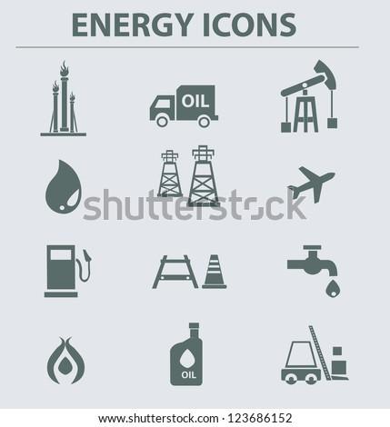 Oil & gas icons,vector - stock vector
