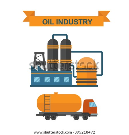 Oil gas industry manufacturing and oil gas icons. World oil gas production infographic distribution and petroleum extraction rate business infochart diagram report presentation design vector.  - stock vector