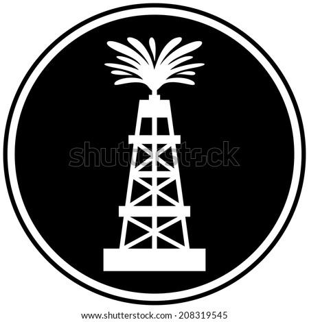 Oil Gusher Symbol Stock Vector 208319545 Shutterstock