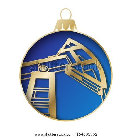 Oil industry christmas design. Vector illustration. - stock vector