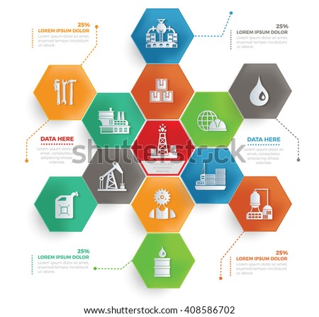 Oil industry concept info graphic design,vector - stock vector
