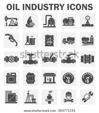 Oil industry icons sets. - stock vector