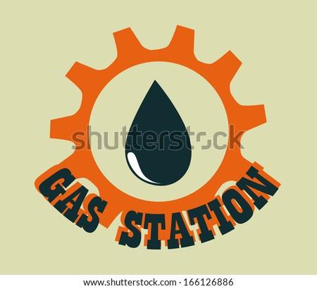 oil  industry over beige   background vector illustration - stock vector