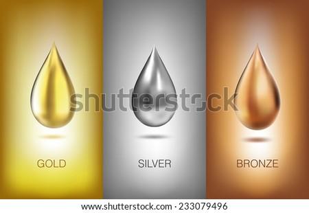 Oil liquid metal. Vector illustration. eps - stock vector