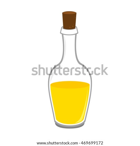 oil olive bottle cork plant organic natural recipent container vector  isolated illustration