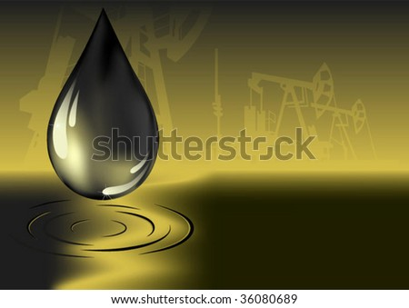 oil on pump background - stock vector