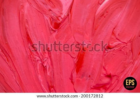 Oil painted background. Vector illustration. Abstract backdrop. - stock vector