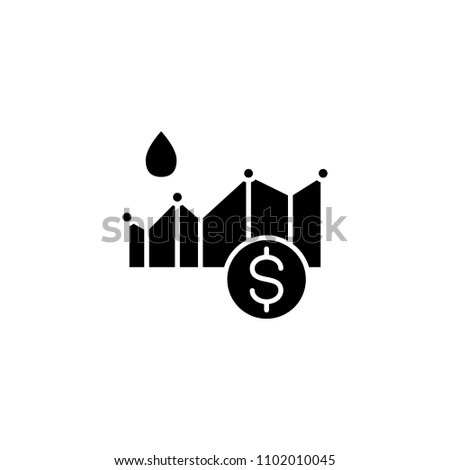 Oil Price Black Icon Concept Oil Stock Vector Royalty Free