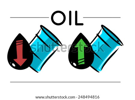 oil prices sketch icons - stock vector
