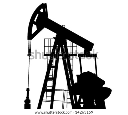 Oil Pump in Vector Art - stock vector