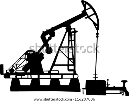 oil pump with EPS 10 VECTOR - stock vector