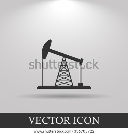 Oil Rig Icon. Flat design style eps 10 - stock vector