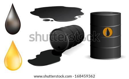 Oil set - stock vector