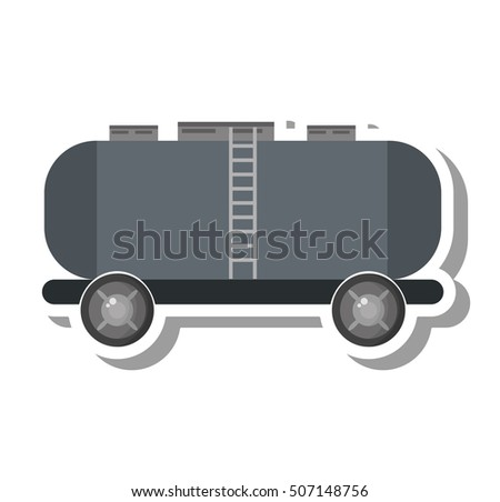 oil tanker truck transport vector illustration design