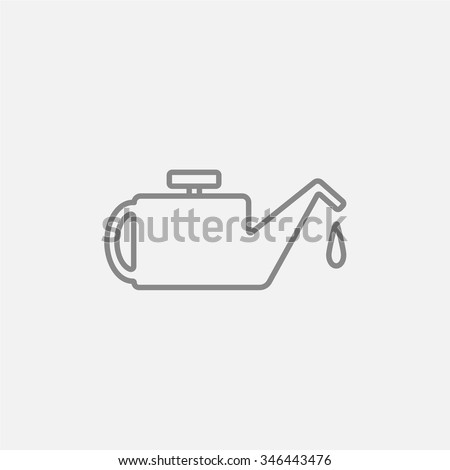 Oiler line icon for web, mobile and infographics. Vector dark grey icon isolated on light grey background. - stock vector