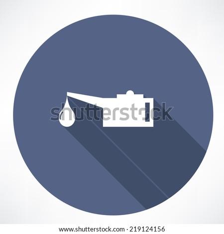 Oiler single flat icon - stock vector