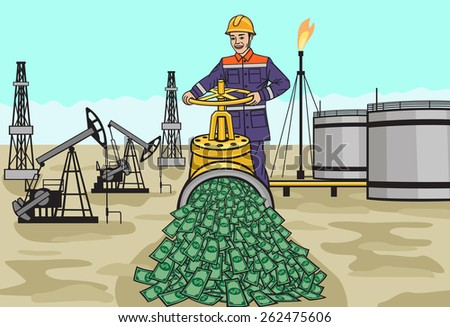 Oilman. - stock vector