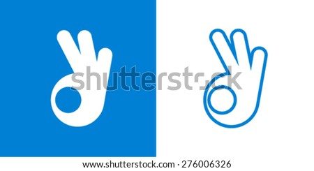Ok - stock vector