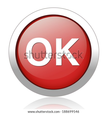 ok  button - stock vector