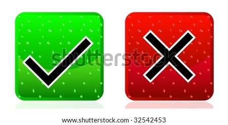 Ok & Cancel - stock vector