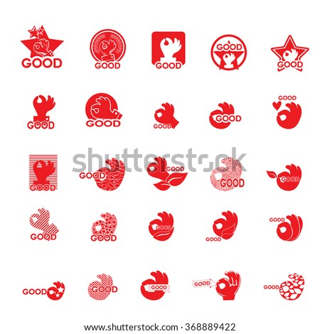 Ok Hand Icons Set - Isolated On White Background - Vector Illustration, Graphic Design, Editable For Your Design - stock vector