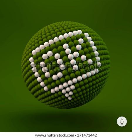OK icon. Web design element. 3d vector illustration. - stock vector