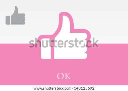 OK. THUMB UP SIGN - stock vector