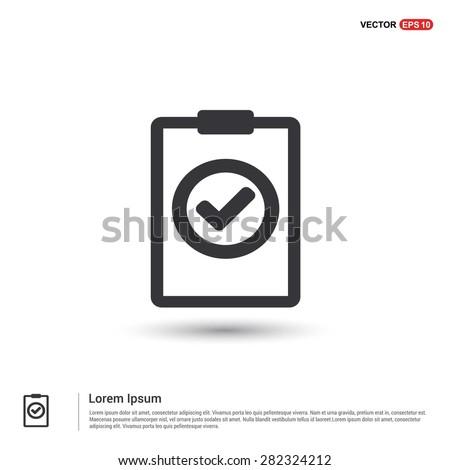 Ok tick Checklist Icon Icon - abstract logo type icon - isometric white background. Vector illustration - stock vector